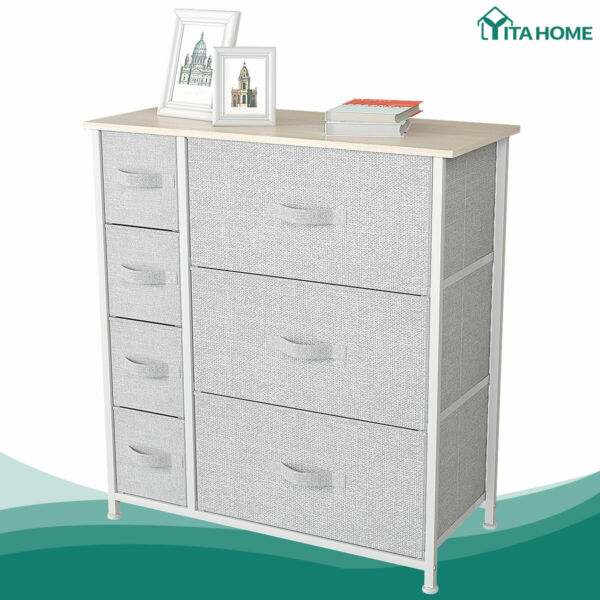 YITAHOME Chest of Fabric Drawers Dresser Storage Organizer Furniture Home Office $55.99