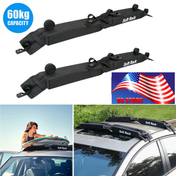 2pcs Foldable Oxford Car Roof Carrier Rack Luggage Storage Load 60kgs Universal $54.89