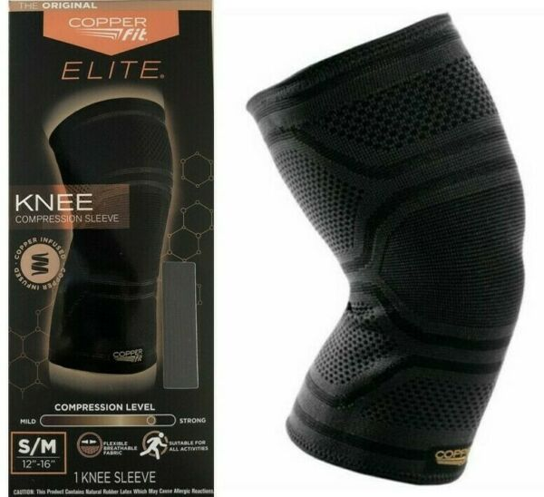 Copper Fit Elite Knee Compression Sleeve S M Copper Infused