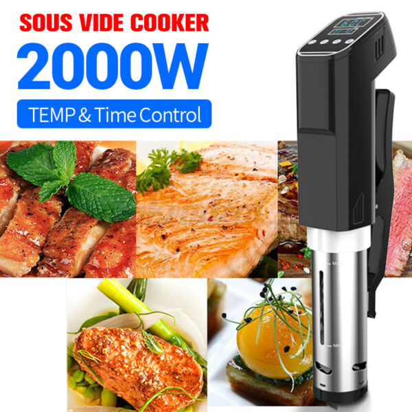 Sous Vide Cooker 2000W Immersion Circulator Vacuum Heater Ultra Quiet US ❤ $69.99