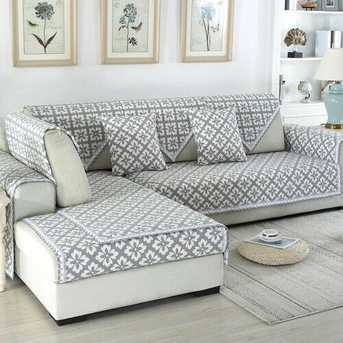 Jacquard Sofa Covers Sofa Towel Cotton Linen Couch Cover Corner Sofa Case $125.47