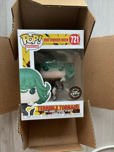 Funko Pop Animation One Punch Man Terrible Tornado #721 CHASE Protector