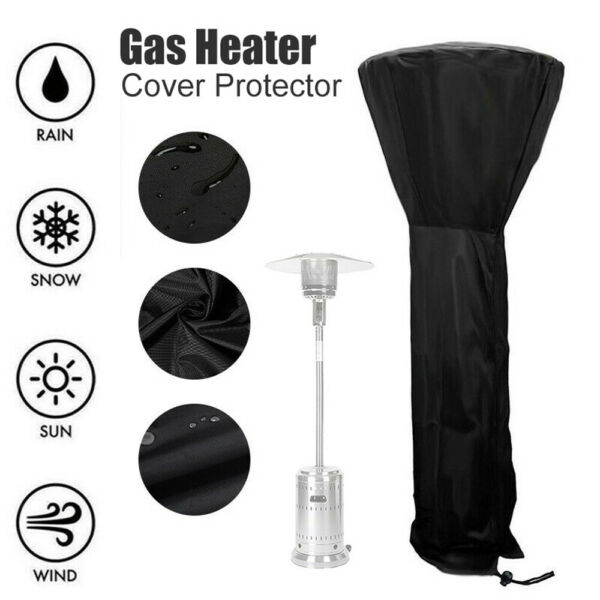 Gas Patio Heater Cover Waterproof Outdoor Heater Protector Outside Acces