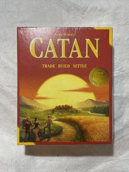 Settlers of Catan Board Game Brand New Sealed Trade Build Settle Box Damaged