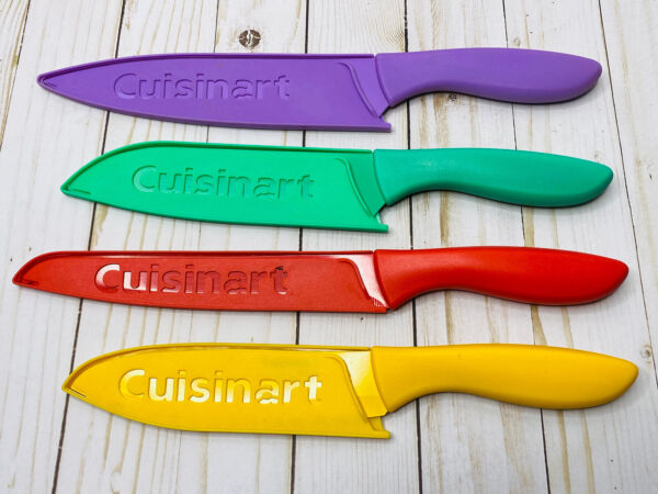 Four Piece Cuisinart Stainless Steel Colored Knives