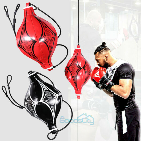 NEW Leather Double End Bag Boxing Floor to Ceiling Speed Ball Punching Bag MMA $19.63