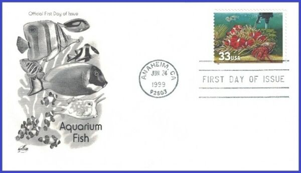 USA5 #3320 U A ARTCRAFT FDC Fish Heater $2.50