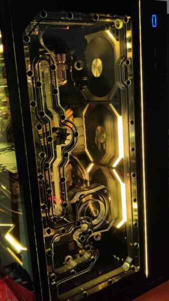 011D XL Front Panel Reservoir Water Distro M2 Fullcover Water Cooling D5 Pump $305.00