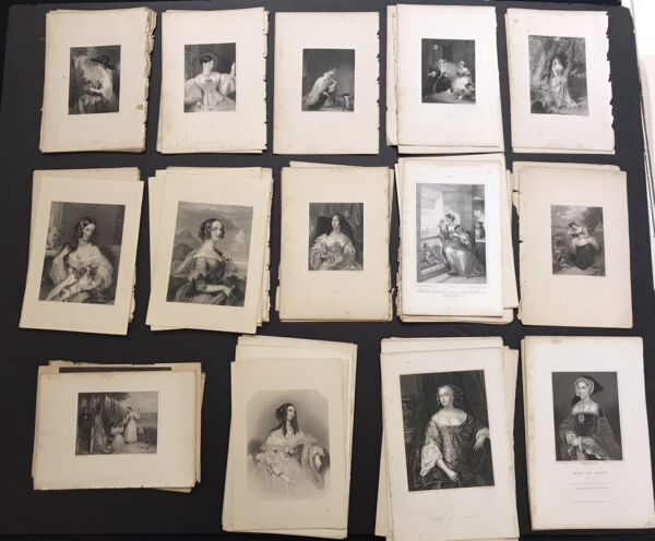 One Hundred Antique Engravings Of Women Mid 19th Century