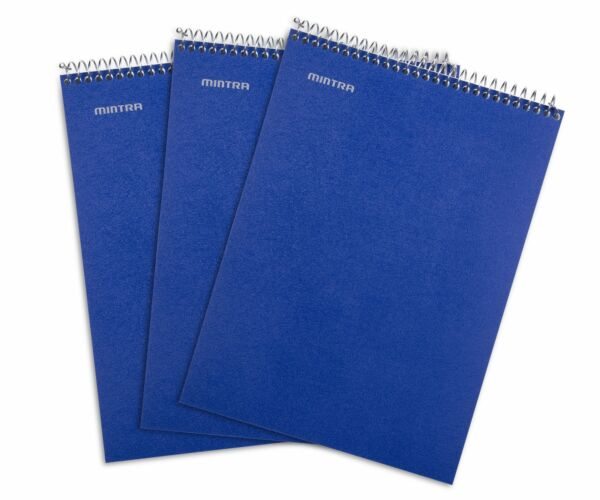 Top Bound Spiral Notebook Blue College Ruled 3pack