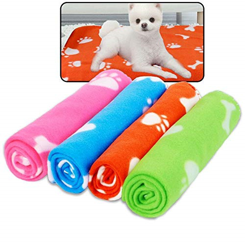 Prsildan Dog Blankets Warm Fleece Puppy Blankets Pet Throws for Dogs Bed Covers $15.96