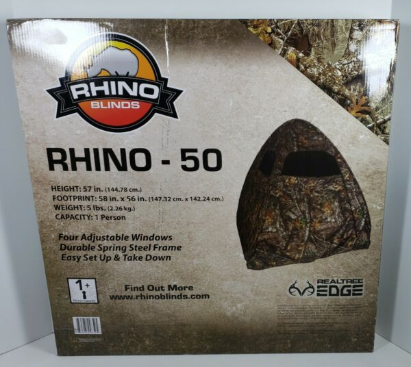 Rhino Blinds Rhino 50 Realtree Edge 1 Person Pop Up Spring Turkey Hunting Blind
