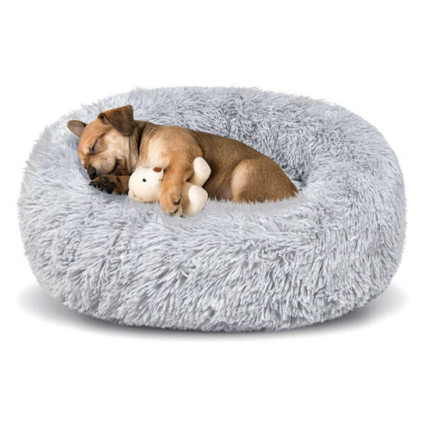 Dog Beds for Medium Large Dogs Washable 31 Inch Faux Fur Pet Bed Calming Dog Bed $20.95