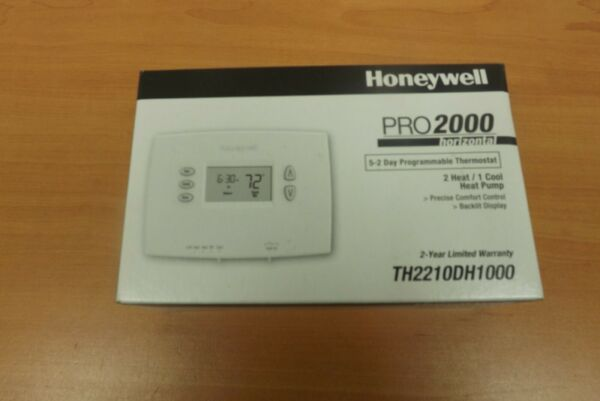 Honeywell PRO 2000 Programmable Heat Pump Thermostat TH2210DH1000 BRAND NEW $25.00