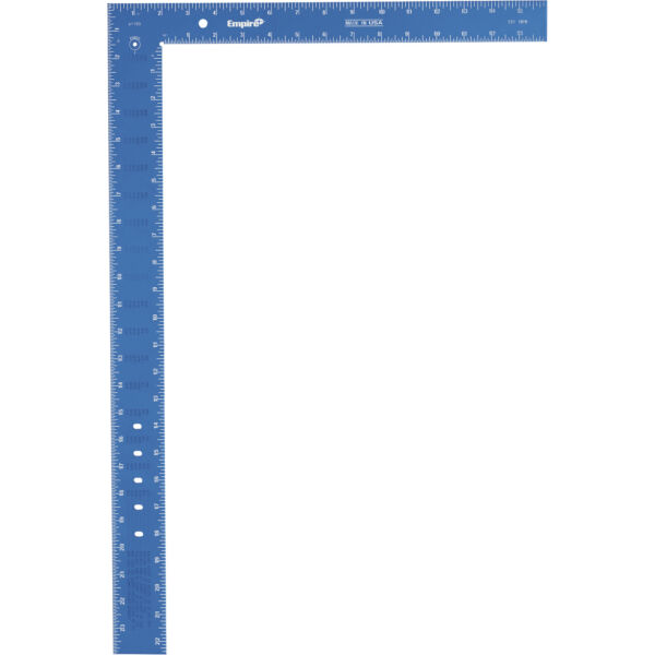 Empire Professional Framing Square 16in x 24in Aluminum Hi Vis Blue 23425