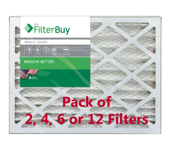 FilterBuy 16x25x2 Air Filters Pleated Replacement for HVAC AC Furnace MERV 8 $21.98