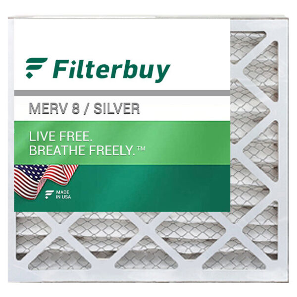 FilterBuy 20x20x2 Air Filters Pleated Replacement for HVAC AC Furnace MERV 8 $21.98