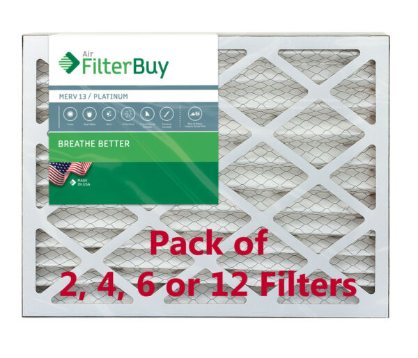 FilterBuy 20x20x4 Air Filters Pleated Replacement for HVAC AC Furnace MERV 13 $41.78