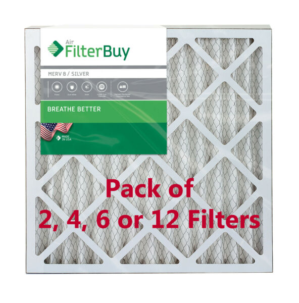 FilterBuy 24x24x2 Air Filters Pleated Replacement for HVAC AC Furnace MERV 8 $39.88