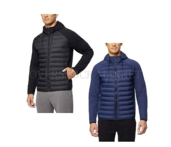 NEW MEN#x27;S 32 DEGREES HEAT WATER RESISTANT MIXED MEDIA HOODED JACKET VARIETY $20.00