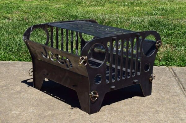 Mini Jeep Collapsible Fire Pit BBQ Grill Gift Idea Camping Firepit