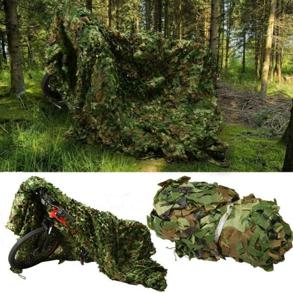 Woodland Leaves Military Camouflage Netting Desert Forest Sunshade Hunting New