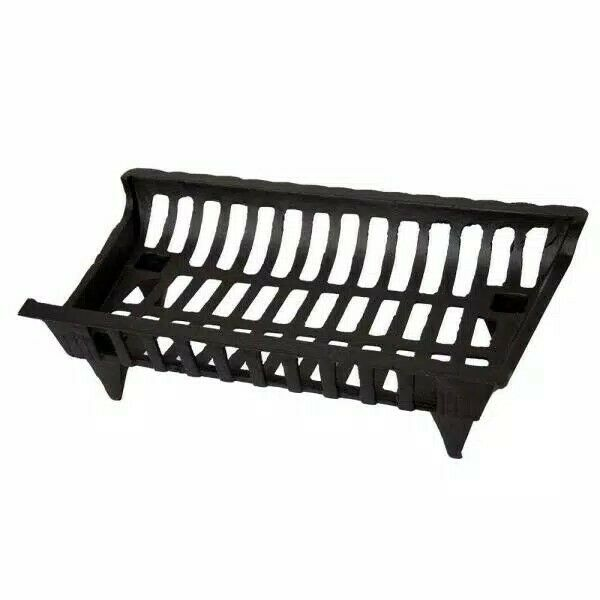 Pleasant Hearth CG24 Cast Iron Fireplace Grate Black 24quot;