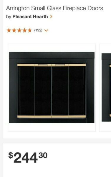 Arrington Small Glass Fireplace Doors by Pleasant Hearth