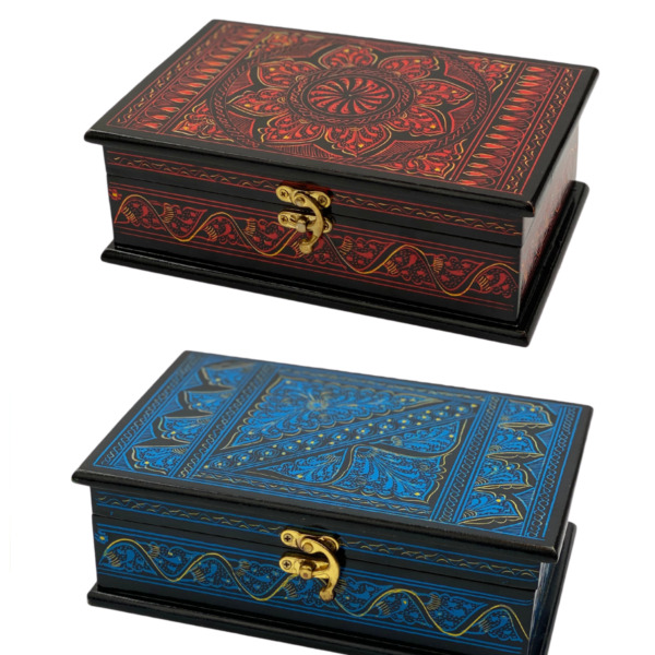 EDOZOS Wooden Boxes for Jewellery Contemporary StyleCraftedamp;Painted by Hand
