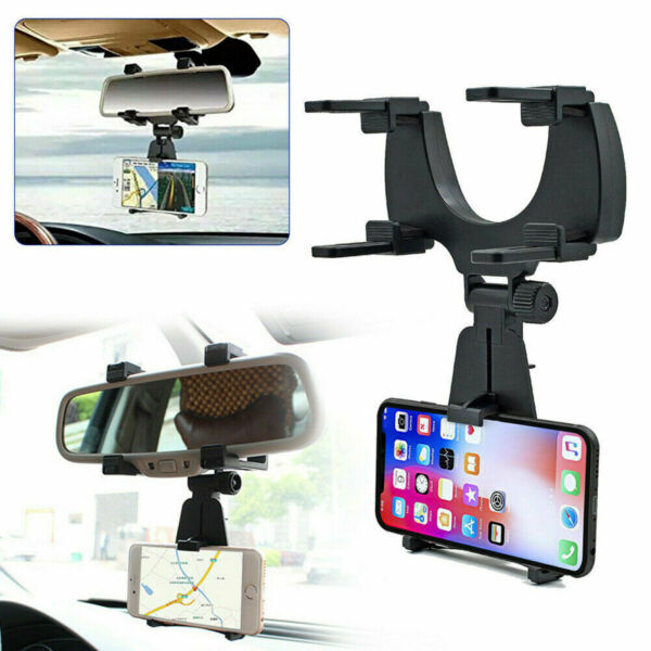 1x Car Accessories Rearview Mirror Mount Stand Holder Cradle For Cell Phone GPS $11.68