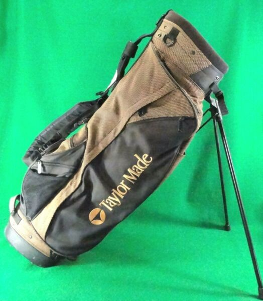 TaylorMade IZZO 4 way dual strap brown black stand bag * $20 SHIPPING *