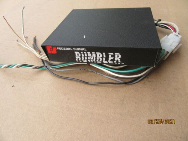 Federal Signal Rumbler Amplifier Rumbler 2