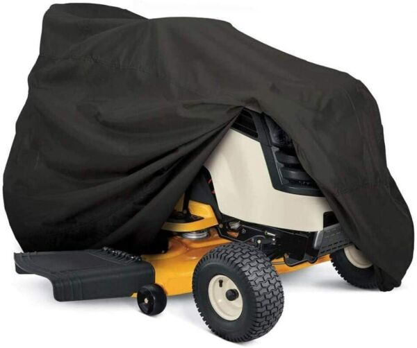 Heavy Duty Outdoor Lawn Mower Tractor Cover 55in Long w Drawstring amp; Storage Bag