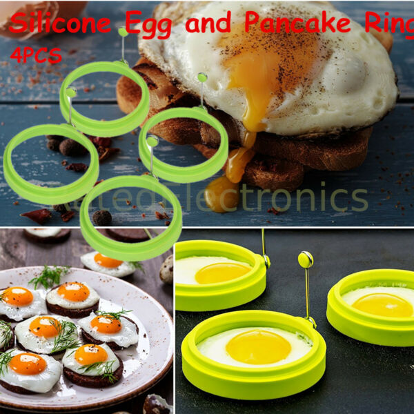New Silicone Egg Fried Mold Ring Pancake Maker Convenient Kitchen Cooking Tool
