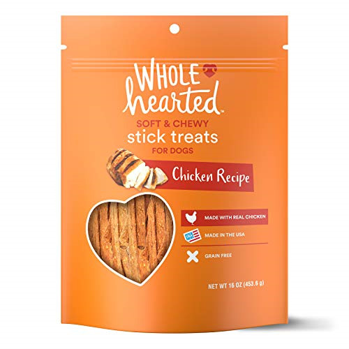 WholeHearted Grain Free Soft and Chewy Chicken Recipe Dog Stick Treats 16 oz $27.36