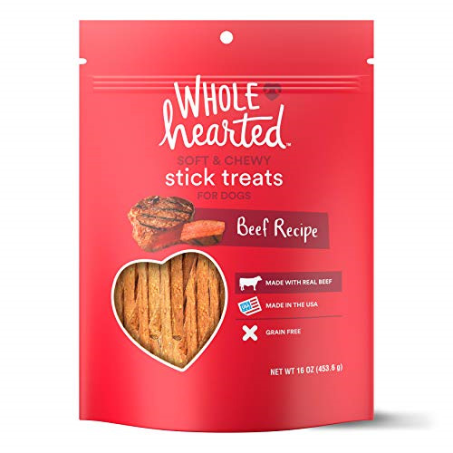 WholeHearted Grain Free Soft and Chewy Beef Recipe Dog Stick Treats 16 oz $34.29