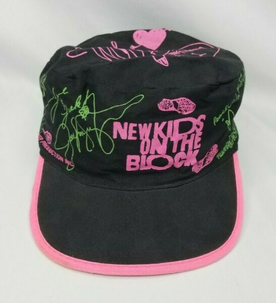 Vintage New Kids on the Block Hat Stretchy Elastic Back 1990