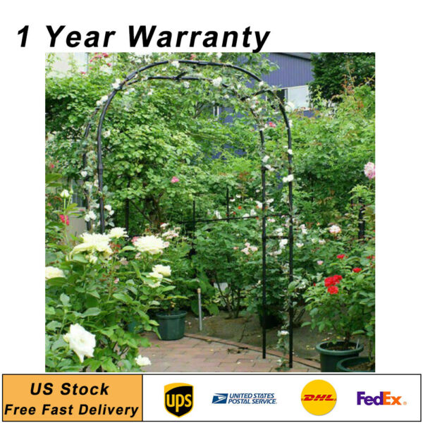 7.9Ft Lightweight Metal Arch Wedding Garden Bridal Party Arbor Arches Prom Decor