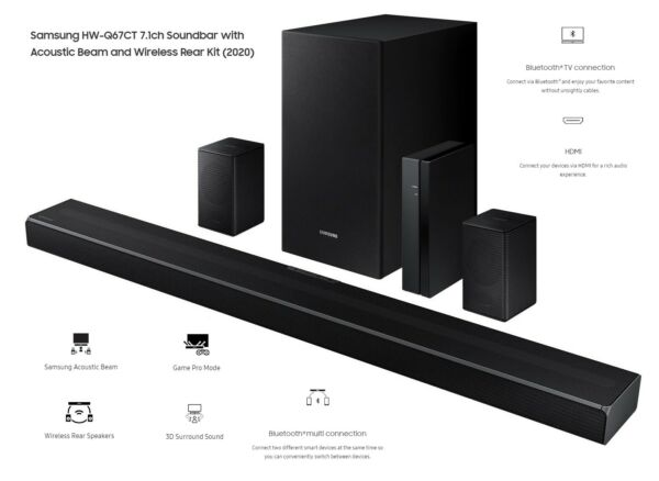 Samsung HW Q67CT Home Theater 7.1 w Rear Speakers amp; Sub Certified Refurbished $249.99