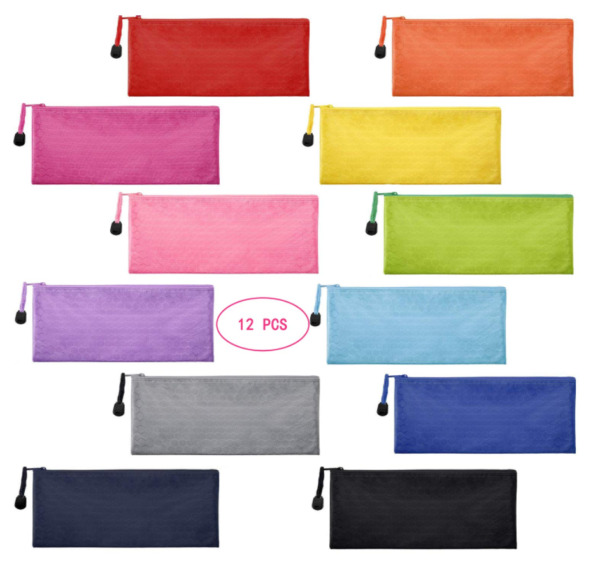 Oxford Tool Pouch Zipper Bag Utility Small Tools Multipurpose Bags 12 Pack New