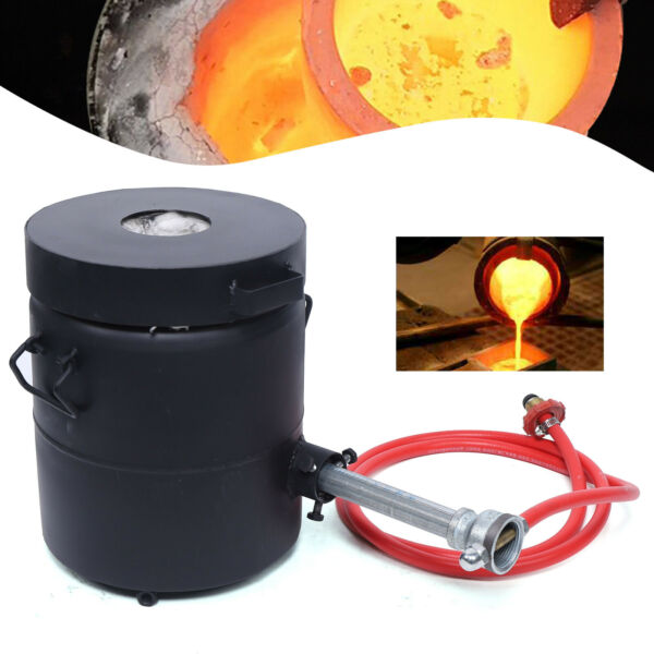Propane Melting Furnace 6KG Gas Forge Gold Silver Copper Jewelry Smelter 1300°C $214.32