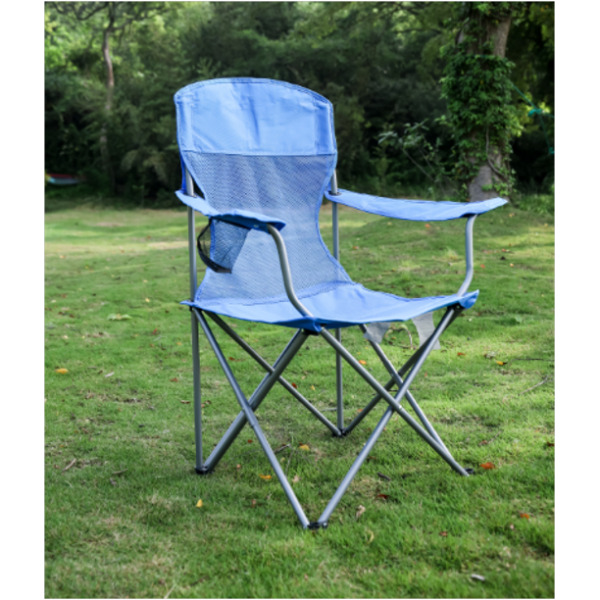 Ozark Trail Basic Mesh Folding Camp Chair with Cup Holder for Outdoor