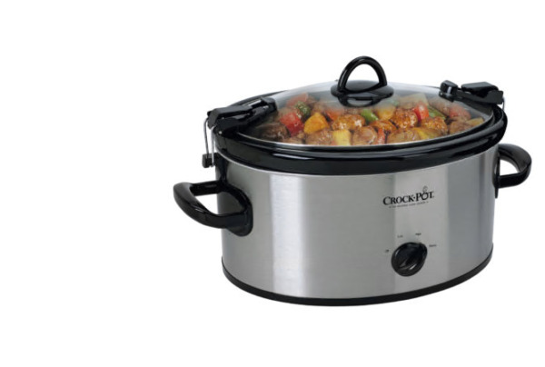 Crock Pot Cook#x27; N Carry Manual Portable Slow Cooker 6 Quart Stainless Steel