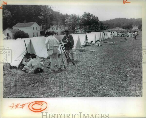 1971 Press Photo Military Tents at Hale Farm and Village cva65635
