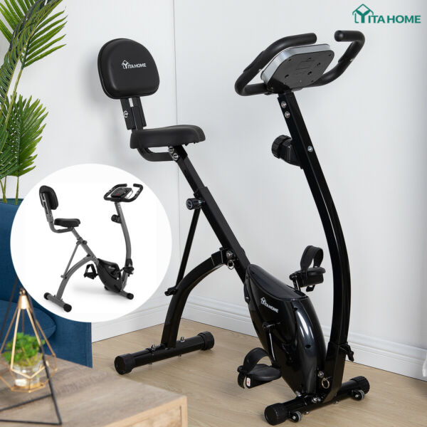 YITAHOME Foldable Exercise Bicycle Indoor Bike Cardio Health Cycling Fitness Gym $155.99