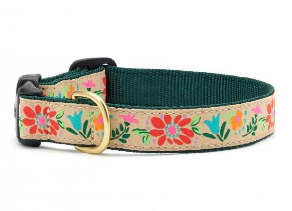 Up Country Dog Puppy Design Collar Tapestry Floral XS S M L XL XXL $22.00