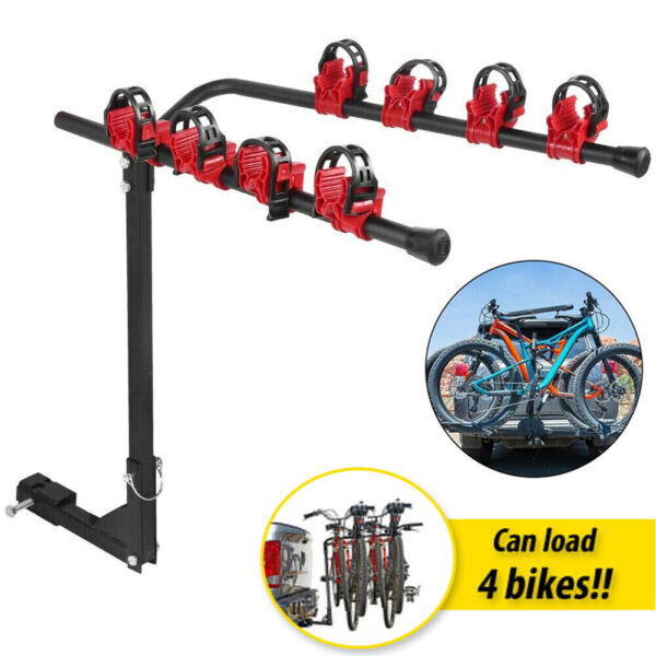 4 Bicycle Bike Rack Hitch Mount Carrier Platform For Car Auto Truck SUV Swing $54.98