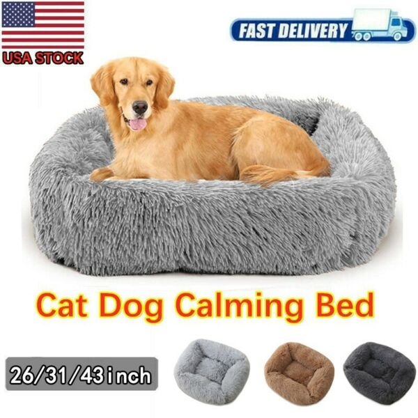 Big Dog Bed Best for Your Dog Orthopedic Long Plush Calming Dog Crate Bed tt $72.14
