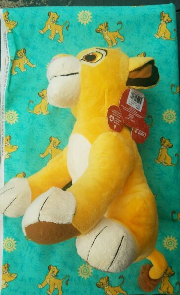 🦁🌿🦁 Vintage 4 yards THE LION KING fabric And Plush 🦁🌿🦁
