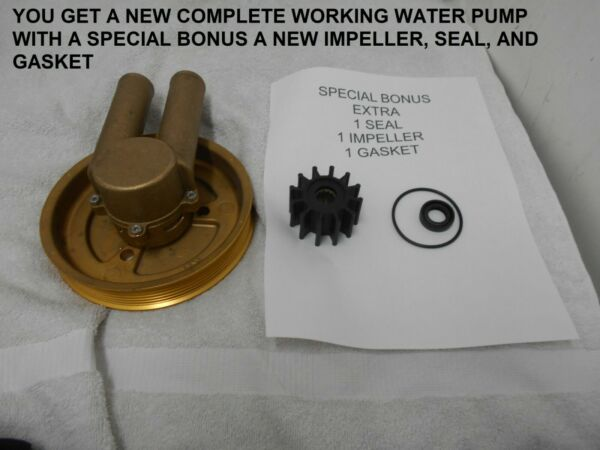 AFTERMARKET For Volvo Penta 21214599 3862482 3812693 Raw Water Pump WITH EXTRA $149.95